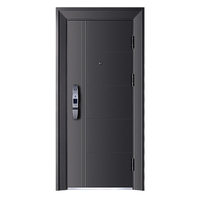High Quality Waterproof Balck Steel Security Door