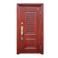 Red Good Qulity Main Entrance Security Steel Door