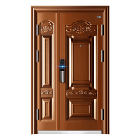 Double Leaf Classic Design Front Door Steel Security Door