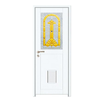 FPL-7014 New Luxury Design Glass Aluminium Bathroom Door