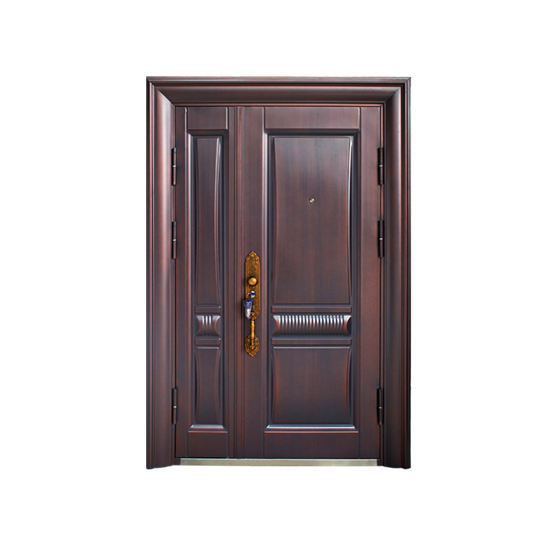 Simple Unequal Double Security Steel Door