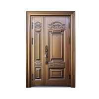 Luxurious Unequal Double Security Steel Door