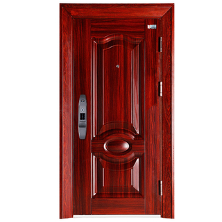 Factory Direct Red Fancy Steel Security Door