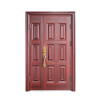 Double Leaf Waterproof Design Entrance Security Door