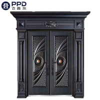 FPL-2009 Custom Double Swing Bulletproof Aluminum Cast Door