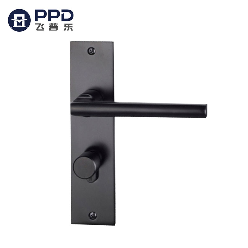 LS25 Contemporary Simple Style Stainless Steel Matte Black Door Handles