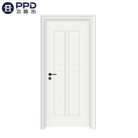PHIPULO White Victorian Carving Bedroom WPC Wooden Door