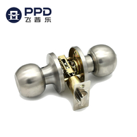 PHIPULO Stainless Steel Round Global Ball Keyed Entry Door Knob
