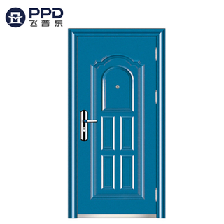 Blue Residential Reinforced Steel Security Front Doors