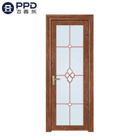 FPL-7010 Fiberglass Ready Made New Design Aluminum Alloy Bathroom Door